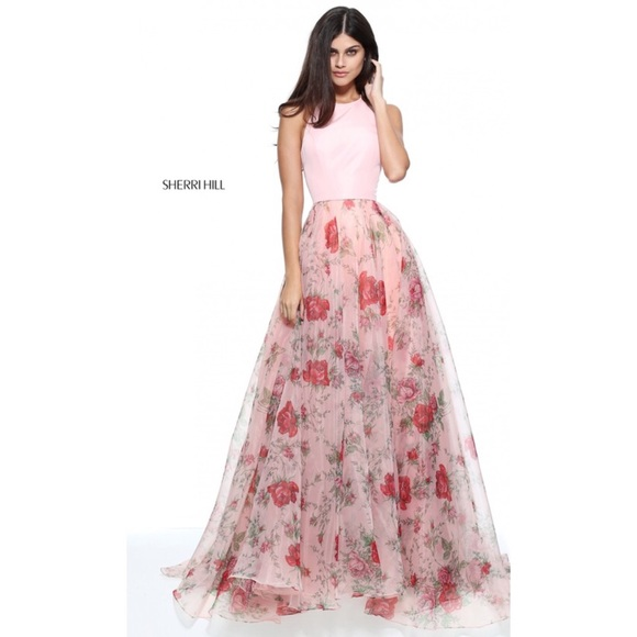 Sherri Hill Dresses 2017 Pink Floral Prom Dress Poshmark